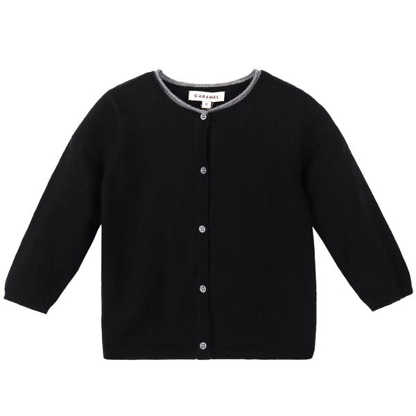 Baby Black Knitted Cardigan