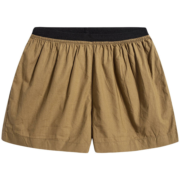 Baby Olive Cotton Shorts