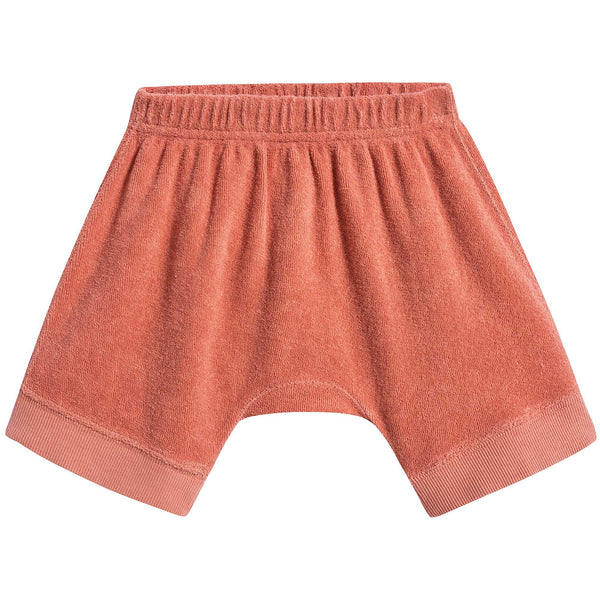 Baby Girls Coral Cotton Shorts