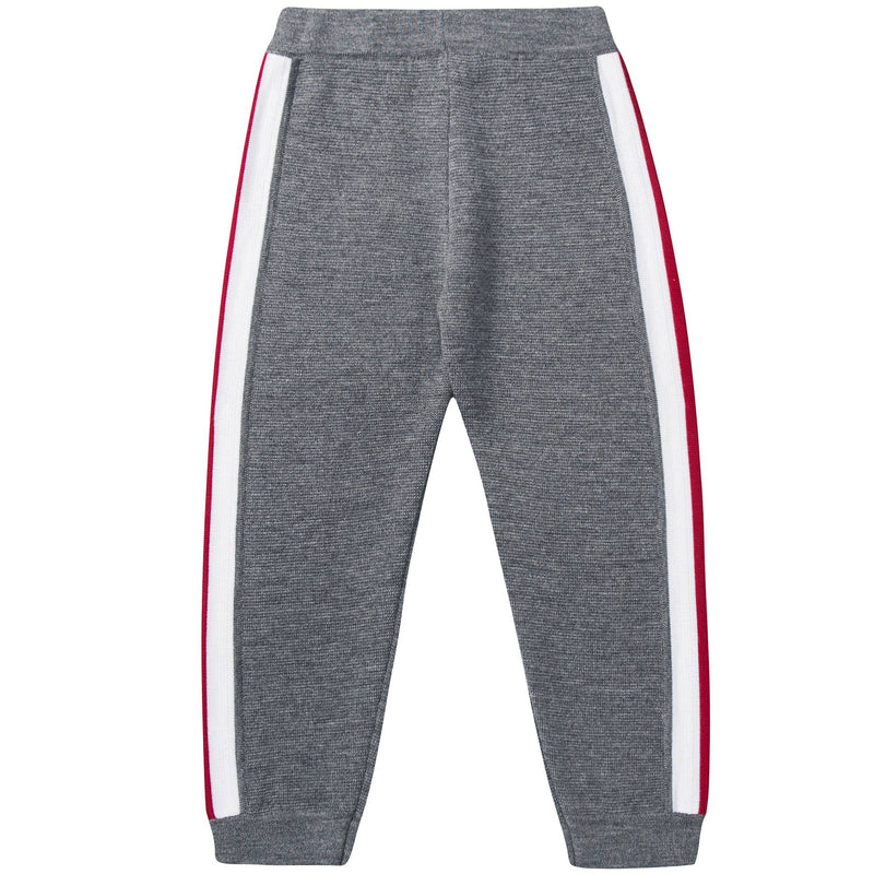 Girls Medium Grey Wool Trousers