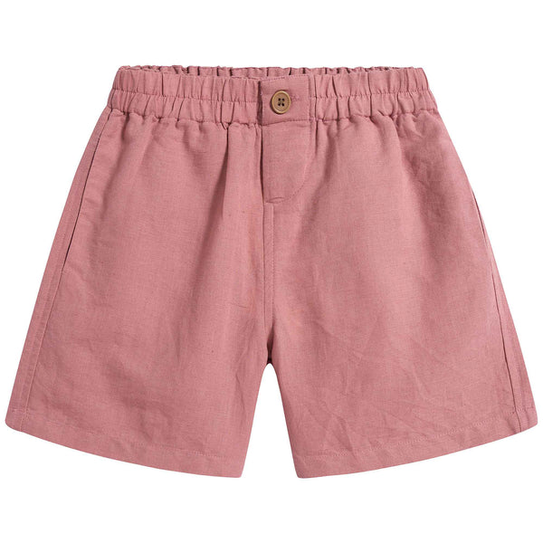 Boys & Girls Brick Red Linen Short