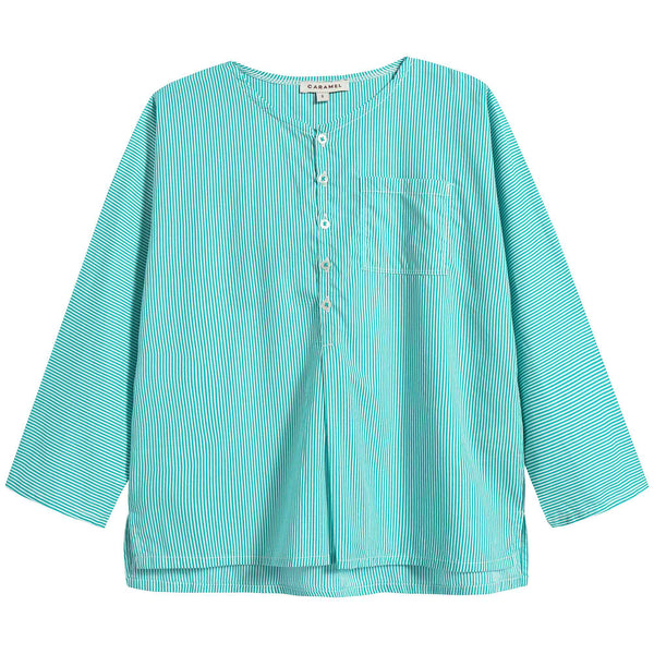 Boys Mint Stripes Cotton Shirt