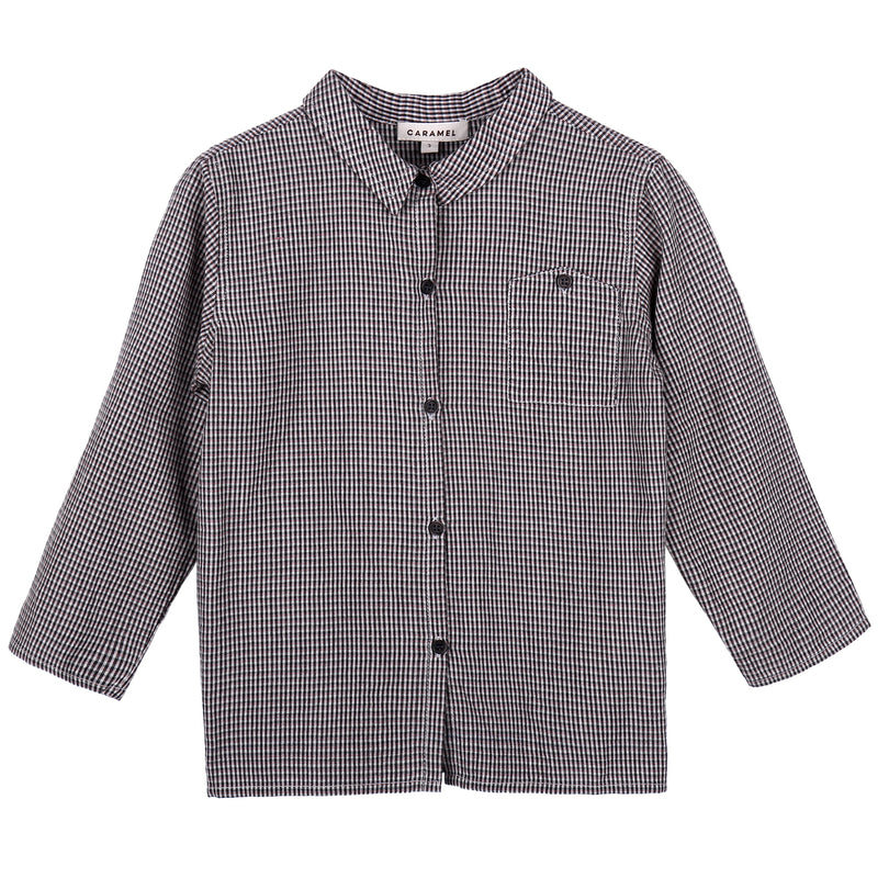 Baby Boys Grey Checked Woven Shirt
