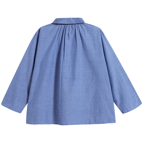 Boys Cornflower Blue Cotton Shirt