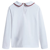 Girls White Cotton Blouse With Collar
