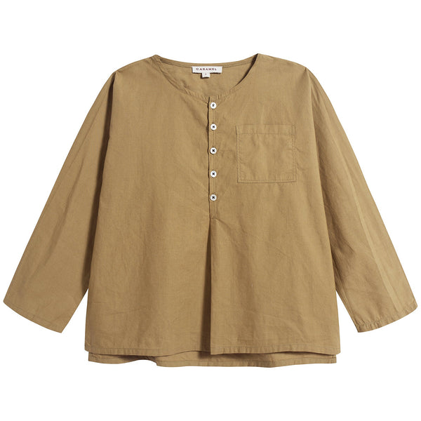 Baby Olive Cotton Tops