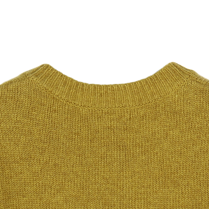 Girls Yellow Knitted Cardigan