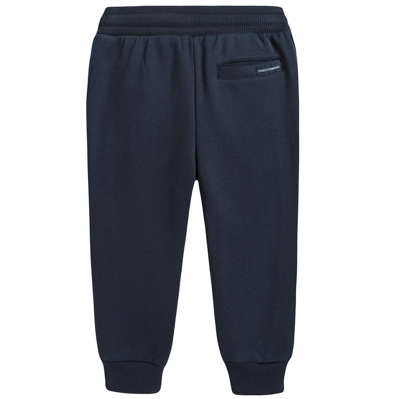 Boys Blue Cotton Jersey Trousers