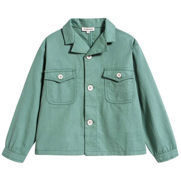 Boys Jade Green Cotton Jackest