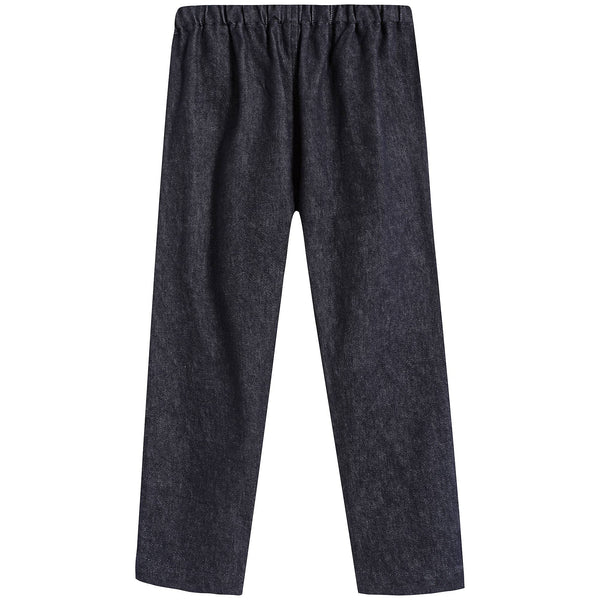 Boys & Girls Dark Blue Cotton Trousers