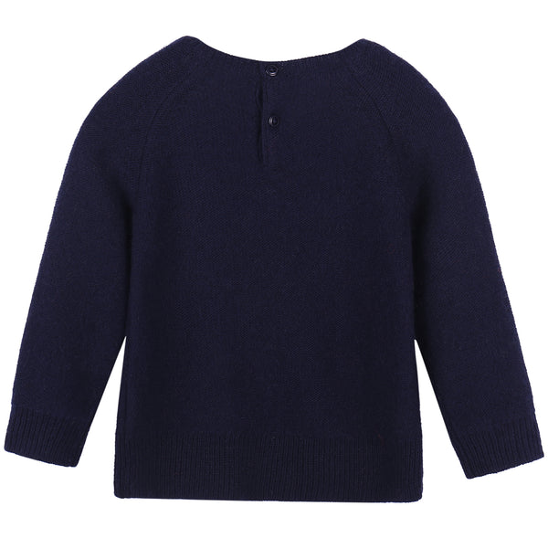 Baby Dark Blue Knitted Sweater