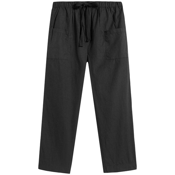 Boys & Girls Black Cotton Trousers