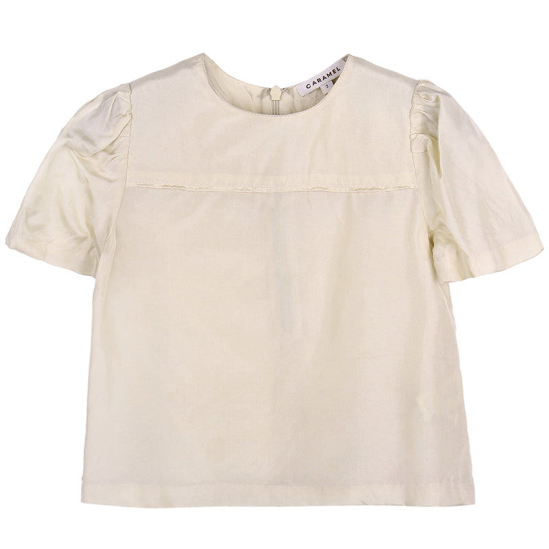 Girls Silk Woven Top