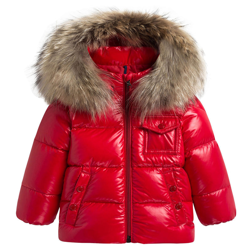 Baby Red 'K2' Down Padded Jacket