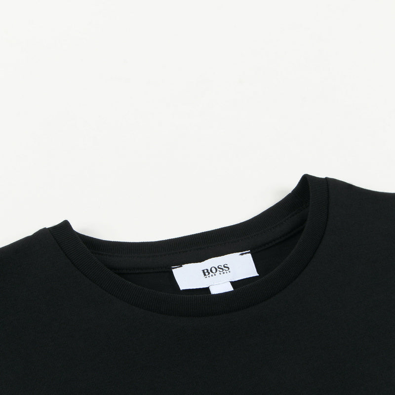 Boys Black Logo Cotton T-shirt