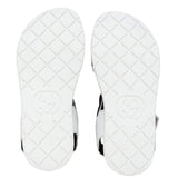 Girls White Leather Upper Rubber Sole Sandals