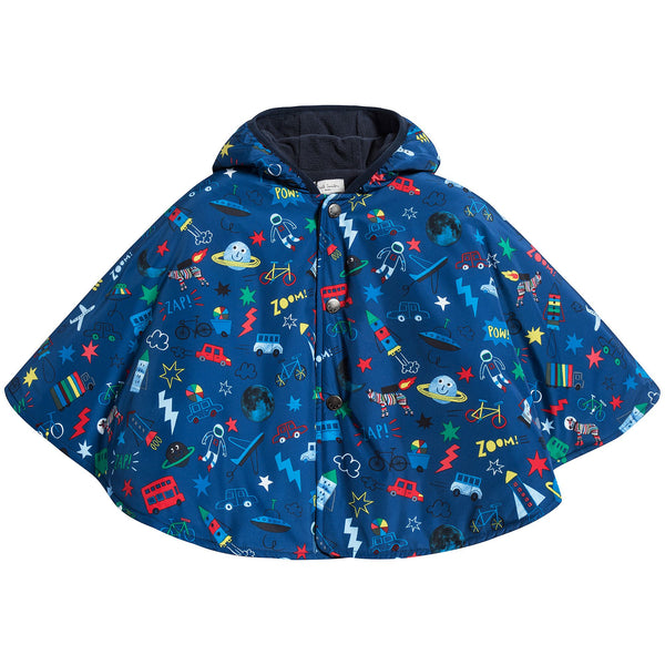 Baby Boys Medium Blue Cape