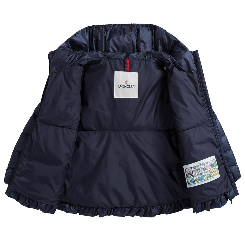"Baby Girls Navy Blue ""Odile"" Down Padded Coat"