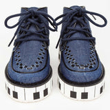 Boys & Girls Blue Piano Keys Soles High-tops Shoe