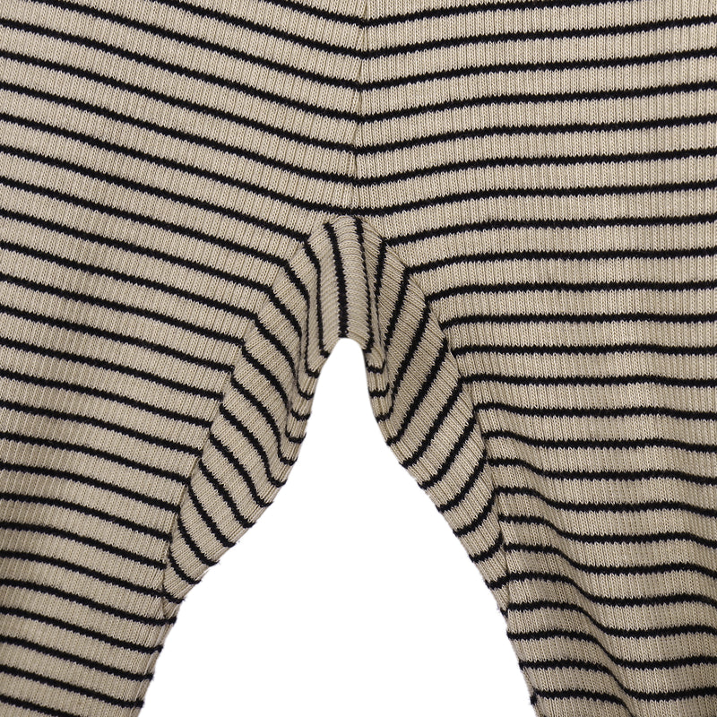 Boys & Girls Beige Striped Cotton Leggings