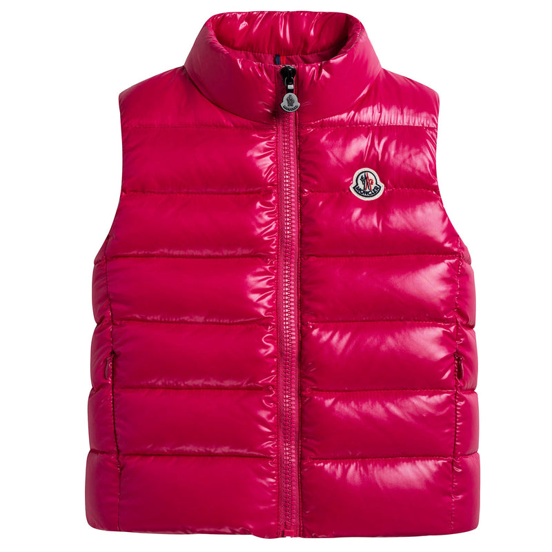 Girls Pink 'Ghany' Down Gilet