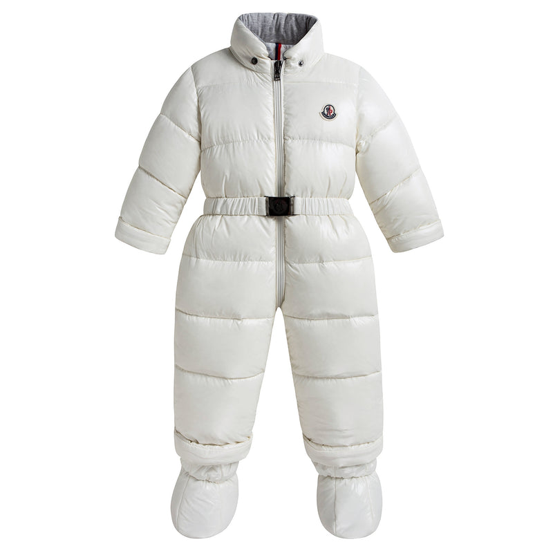 "Baby Girls White ""New Crystal"" Snowsuit"