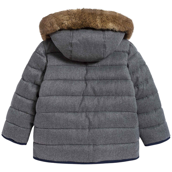 Boys Medium Gray Coat