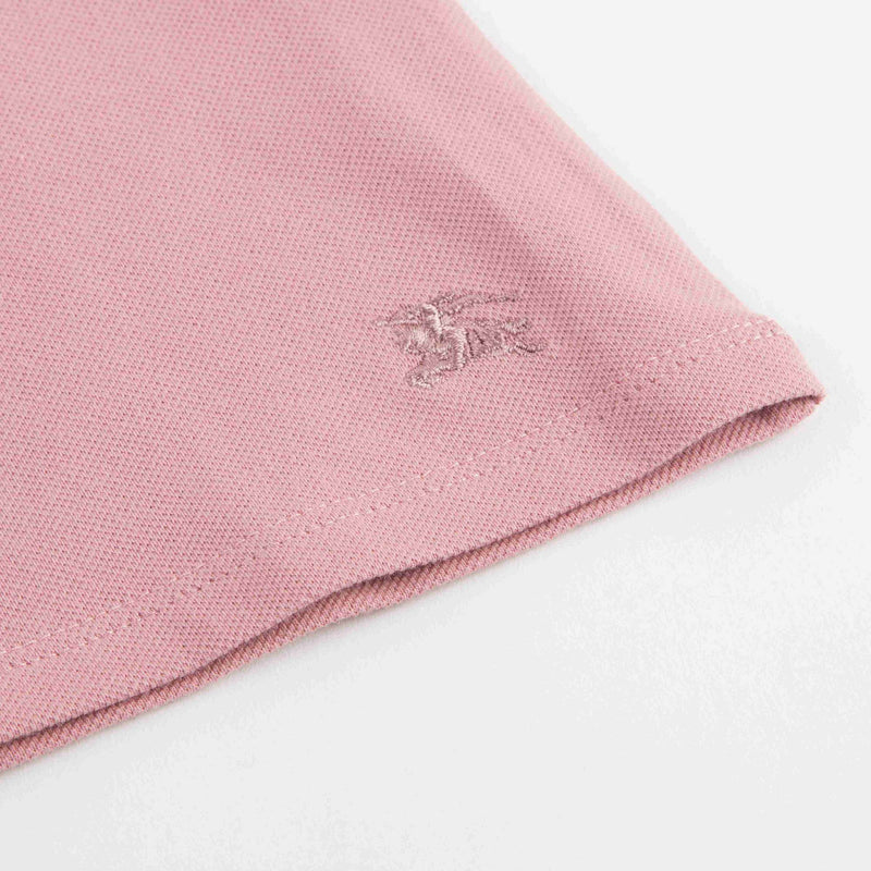Girls Pink Cotton Piqu茅 Polo Shirt