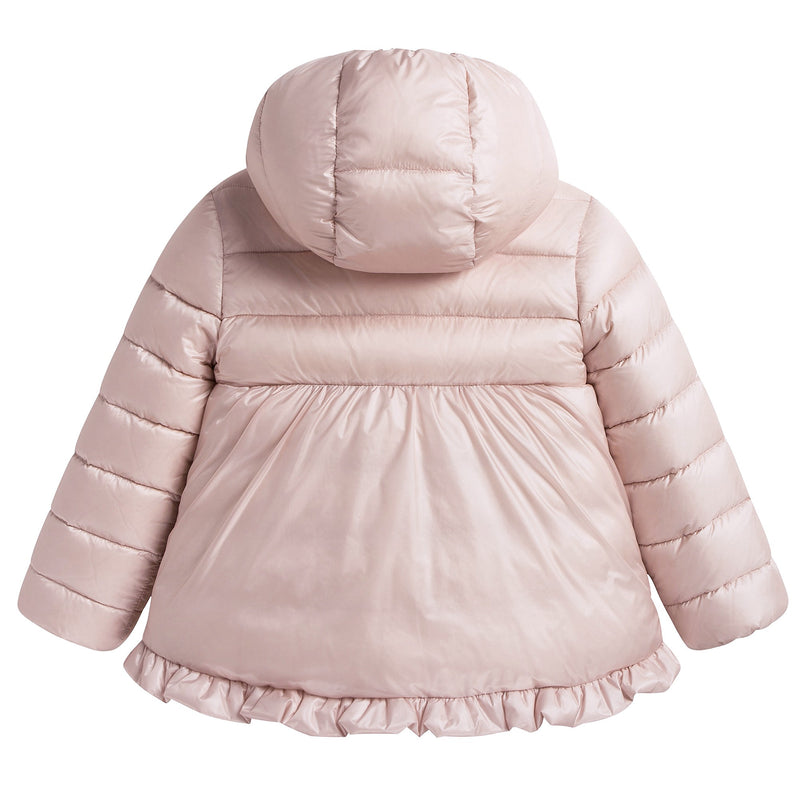 "Baby Girls Pink ""Odile"" Down Padded Coat"