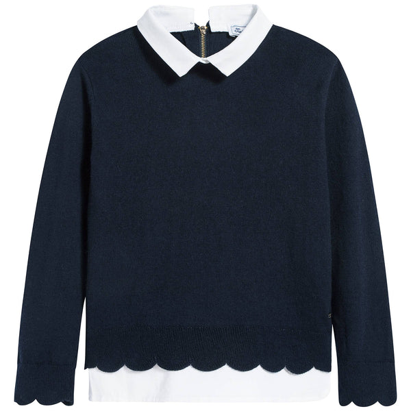 Girls Marine Cotton Sweatshirt