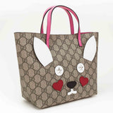 Gurls Light Brown Bear Trims Handbag