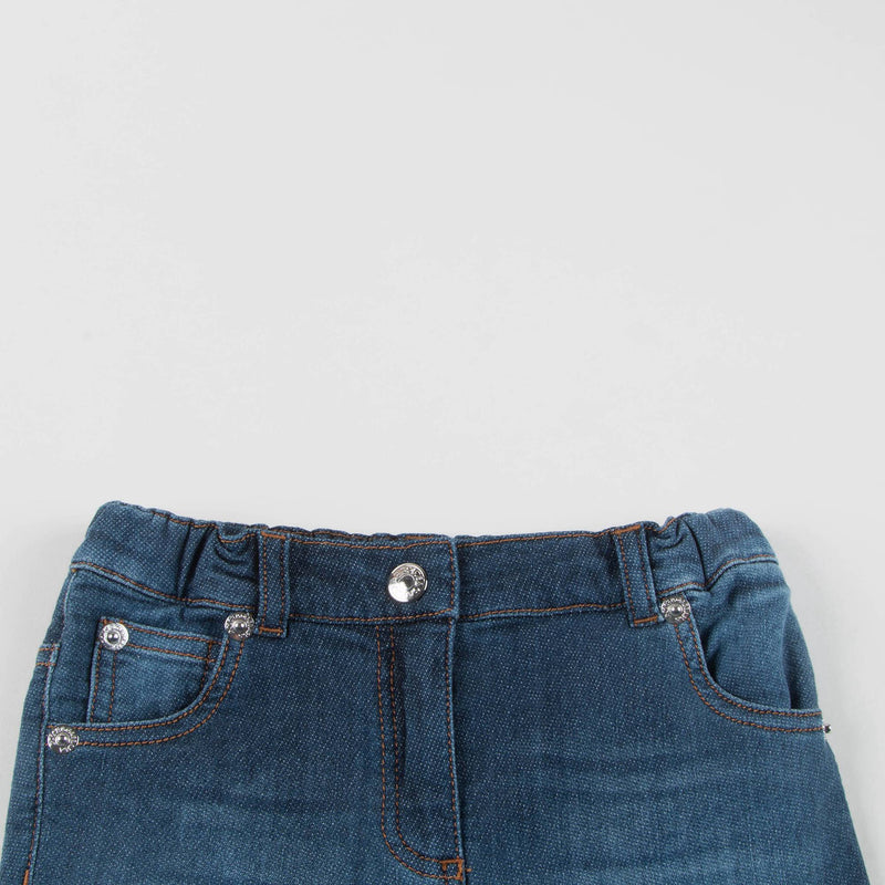 Baby Girls Blue Jean Cotton Trousers