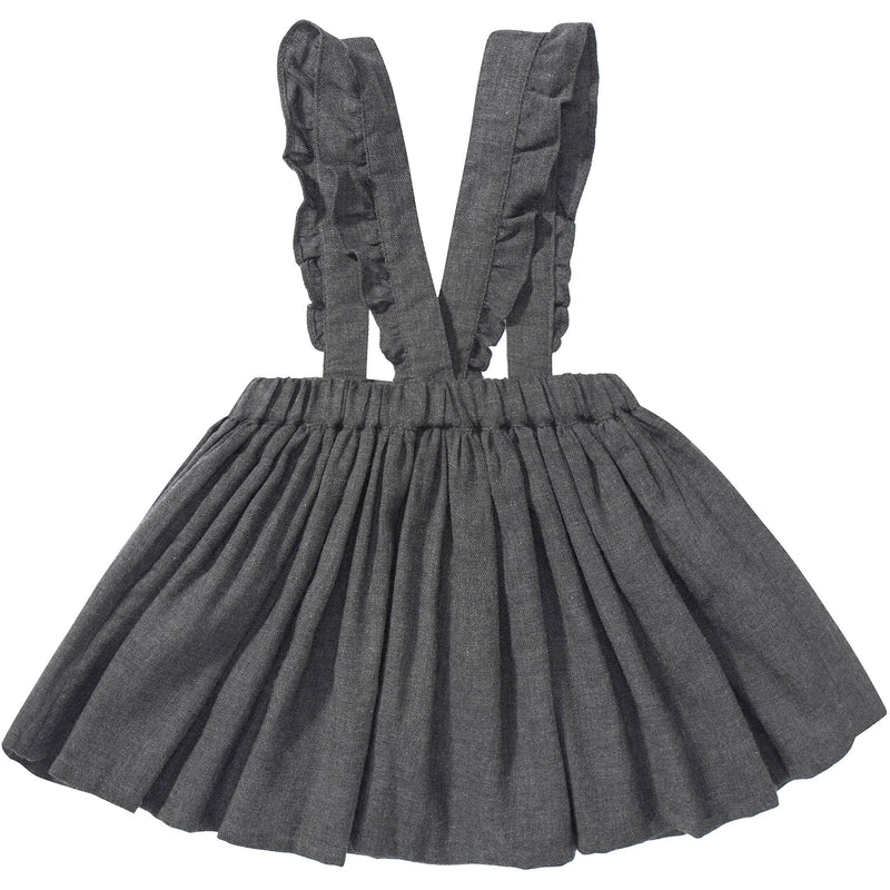 Girls Grey Cotton Skirt