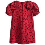 Girls Red Jacquard Dress