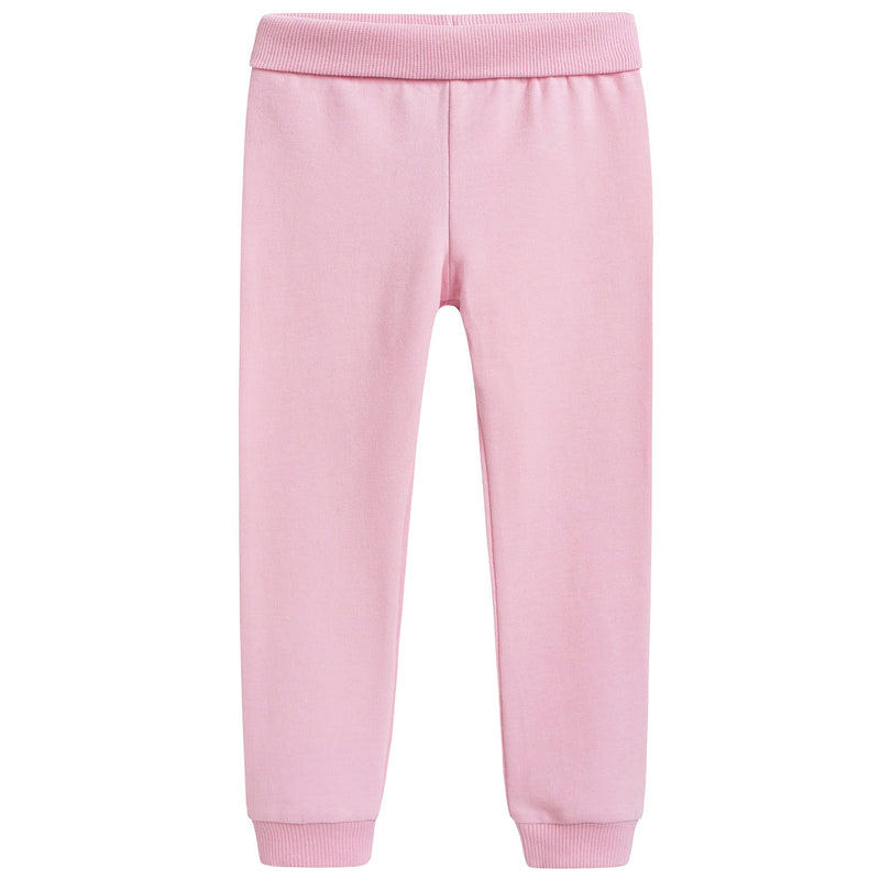 Baby Girls Pink Cotton Teddy Tracksuit