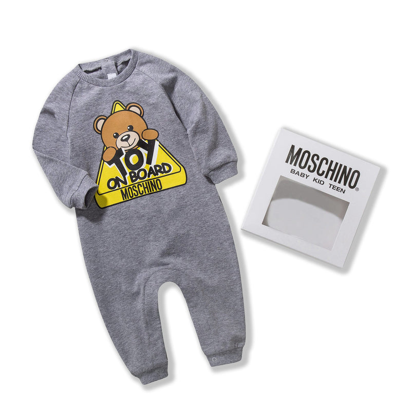 Baby Grey Cotton Toy Babygrow