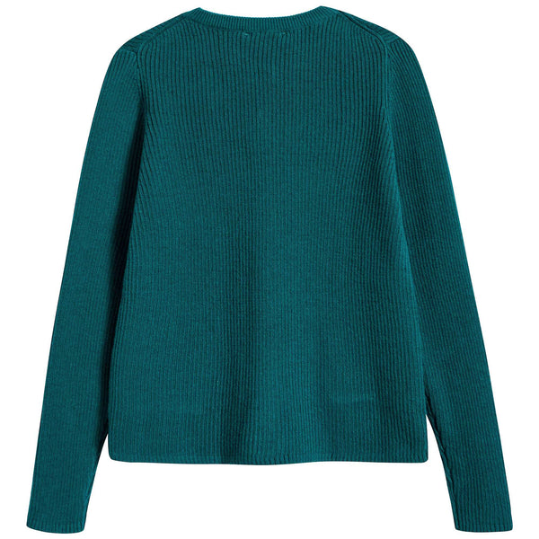 Girls Teal Cotton Zenobia Cardigan