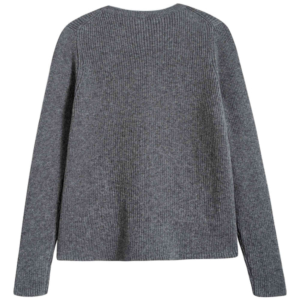 Girls Grey Cotton Zenobia Cardigan