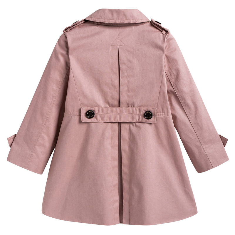 Baby Girls Pale Pink Trench Coat