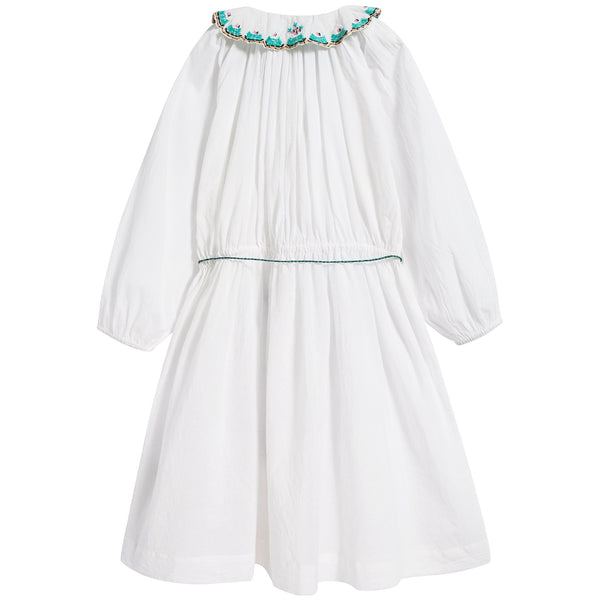 Girls White Portea Dress