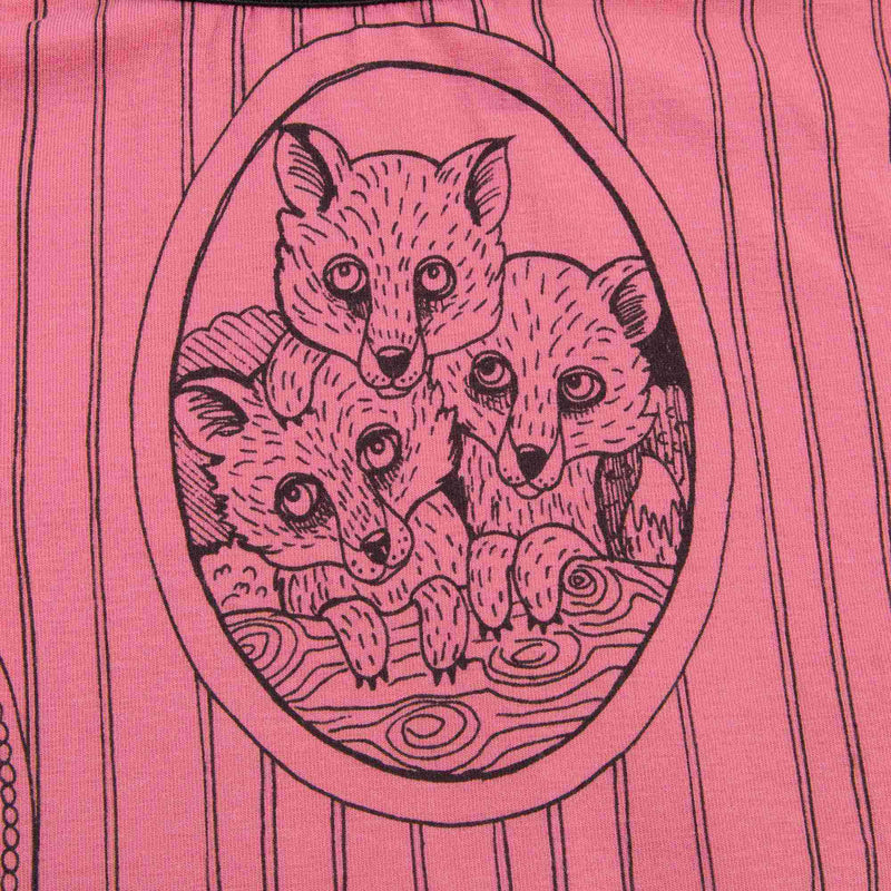Girls Pink Fox Family Skirt