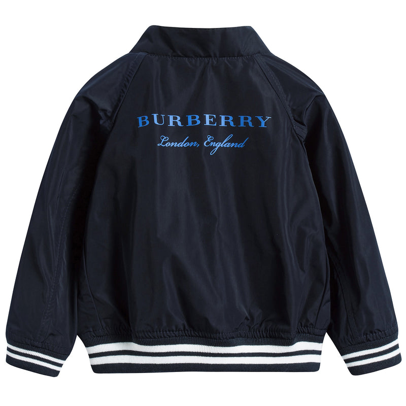 Baby Boys Navy Blue Polyester Jackets