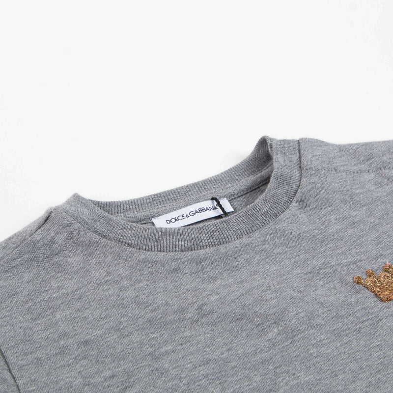 Baby Boys Gray Cotton T-shirt