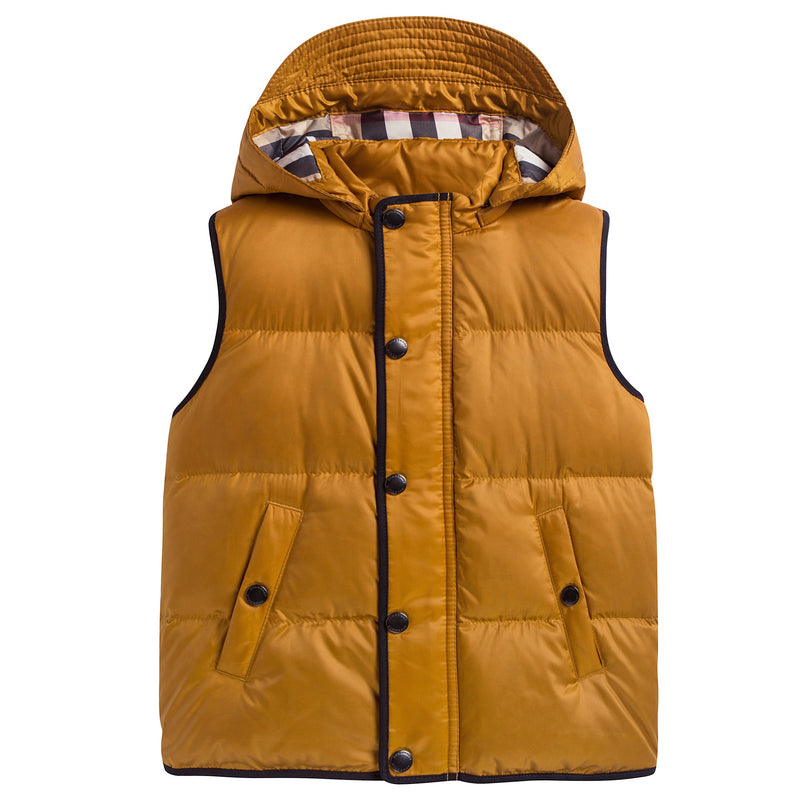 Boys & Girls Yellow 'Mini Carlton' Down Gilet
