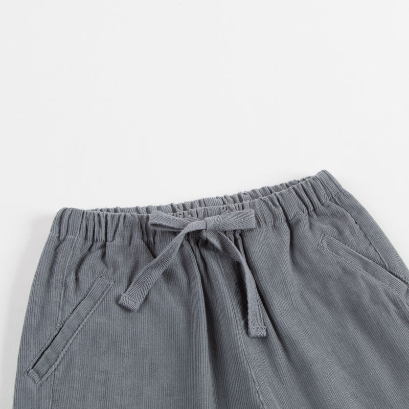 Girls Grey Cotton Trousers