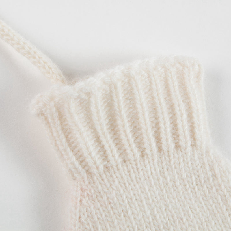 Girls Rose Pink Wool Gloves