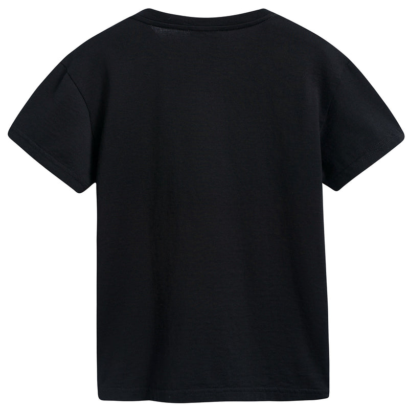 Girls & Boys Black Logo T-shirt
