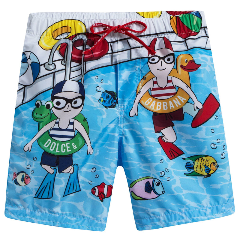 Baby Boys DG Family Swimming Trunks