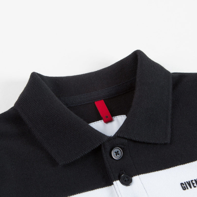 Boys Black & White Logo Polo Shirt
