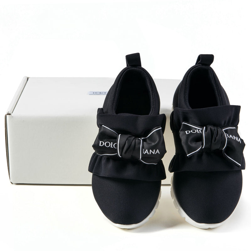 Girls Black Nylon Shoes